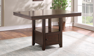 Yorktown Espresso Counter Height Dining Table