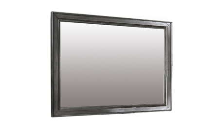 Louis Philippe Platinum Grey Landscape Mirror