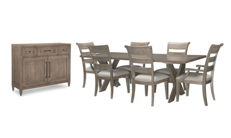 Breckenridge Barley Brown 8-Piece Dining Set