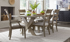 Breckenridge Barley Brown 7-Piece Dining Set