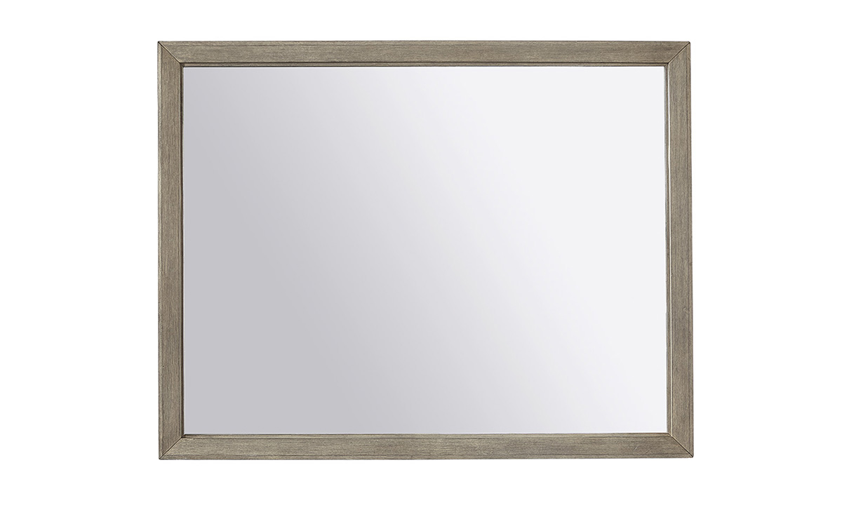 Picture of Platinum Grey Linen Landscape Mirror
