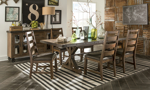 Taos Canyon Brown Trestle Dining Table