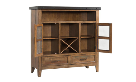 Taos Canyon Brown Buffet Pantry Cabinet