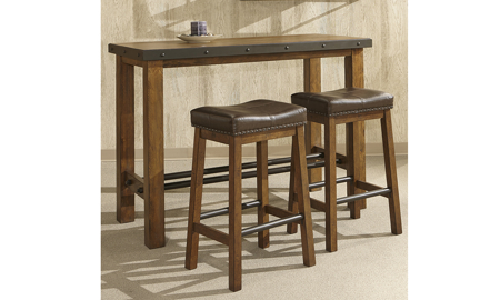 Taos Canyon Brown 2-Piece Barstool Set
