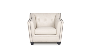 Crestwood Cream Leather Arm Chair
