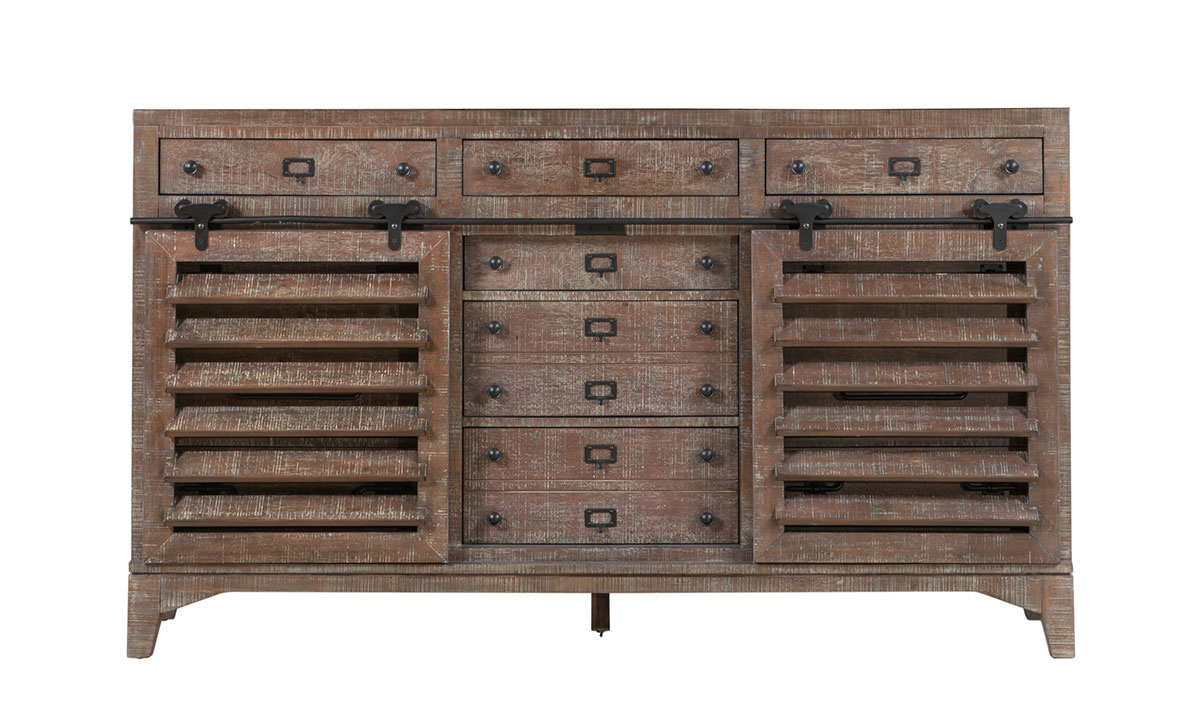 Bohemian Cocoa Brown Sideboard Cabinet