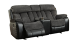 Connor Polo Grey 3-Piece Reclining Living Room Set