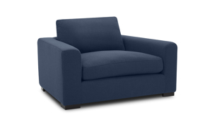 Flanigan Midnight Blue 3-Piece Living Room Set