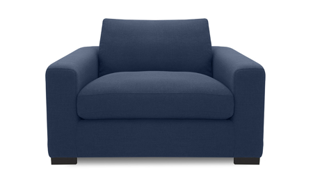 Flanigan Midnight Blue Armchair