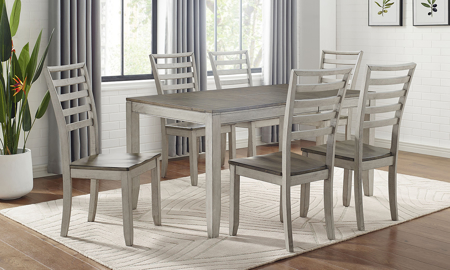 Abacus Alabaster and Honey 7-Piece Dining Set