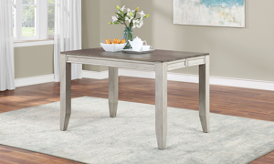 Abacus Alabaster and Honey Counter Height 7-Piece Dining Set