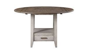Abacus Alabaster and Honey Round Counter Height Dining Table