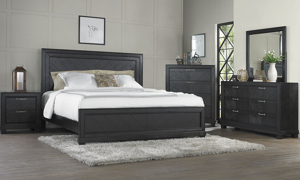 Montana Chevron Brown Panel Bedroom Sets