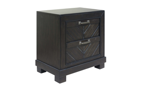 Montana Chevron Brown 2-Drawer Nightstand