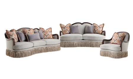 Carlotta Cloud 3-Piece Living Room Set