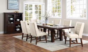 Benchwright Brown Solid Mango Wood 7-Piece Dining Set