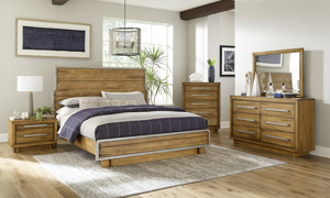 Forest Lane Brown Solid Pine Panel Bedroom Sets