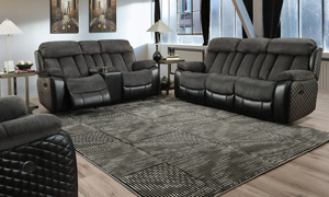 Connor Polo Grey Power Dual Reclining Sofa