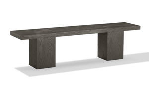 Modesto Double Pedestal Dining Bench