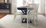 Rachael Ray Everyday Peppercorn 5-Piece Dining Set with Sea Salt Slat Back Chairs