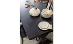 Rachael Ray Everyday Peppercorn 5-Piece Dining Set with Sea Salt Upholstered Chairs