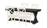 Rachael Ray Everyday Peppercorn 5-Piece Dining Set with Sea Salt Cross Back Chairs