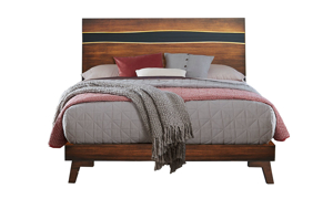 Greentown Brown Solid Pine Panel Beds