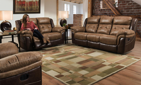 Everett Brown 3-Piece Dual Reclining Living Room Set