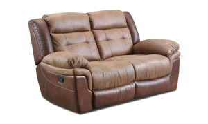 Everett Brown Dual Reclining Loveseat