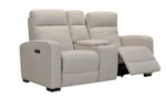 Jessica Jacobs Ferrara Hemp Dual Power Reclining Console Loveseat