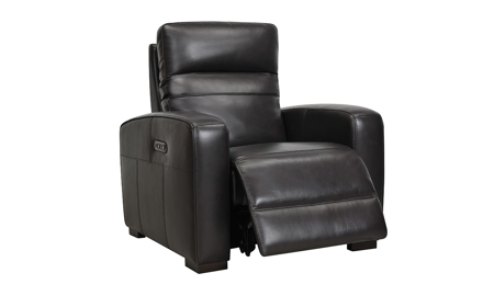 Jessica Jacobs Ferrara Espresso Leather Power Recliner