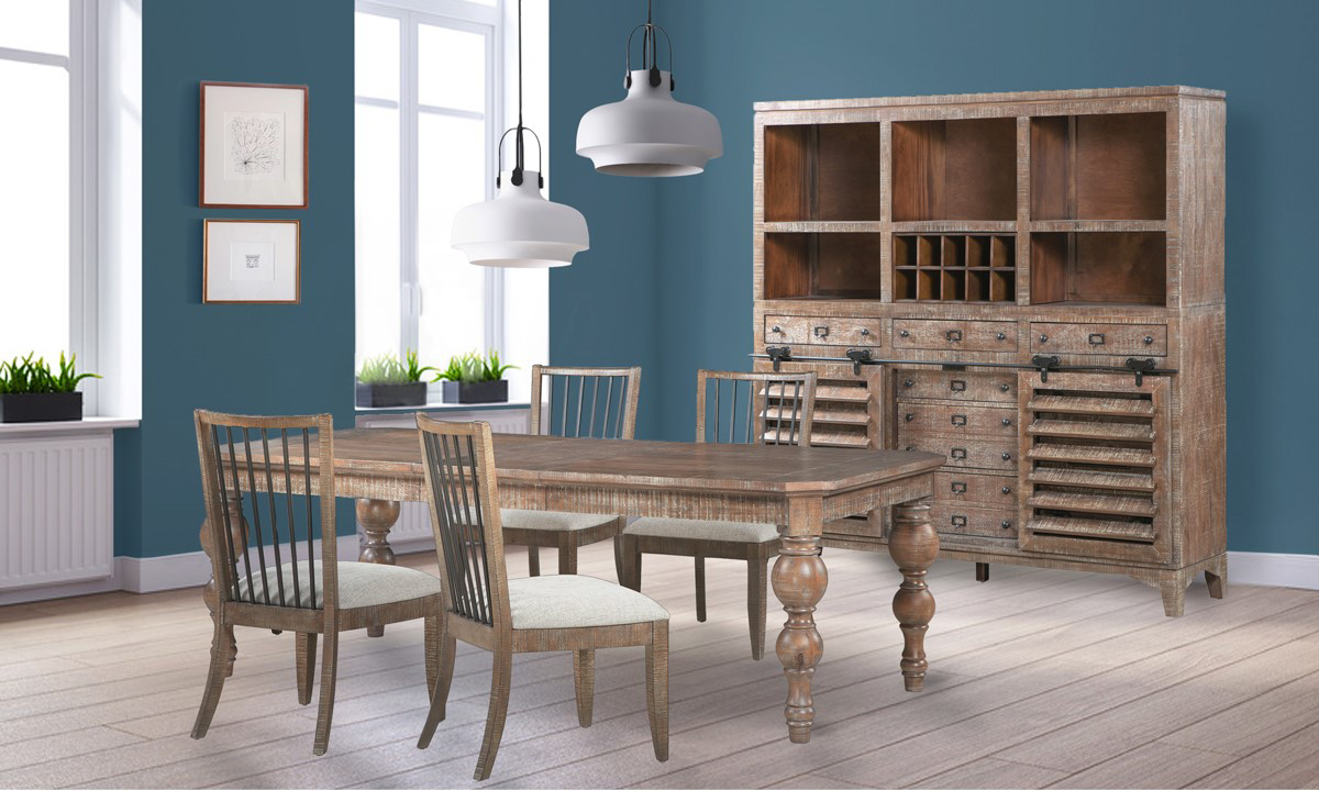 Bohemian Cocoa Brown 7-Piece Dining Set