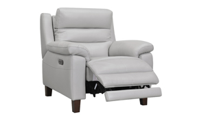 Jessica Jacobs Bergamo Dove Leather Power Recliner
