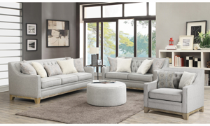 Andorra Grey 3-Piece Tufted Living Room Set