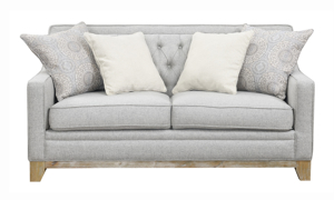 Andorra Grey Tufted Loveseat