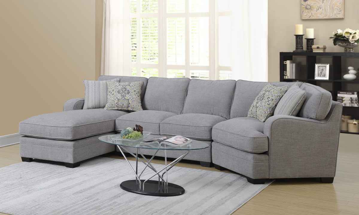 Picture of Analiese Grey 3-Piece Chaise Sectional