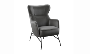 Perry Stallion Black Accent Chair