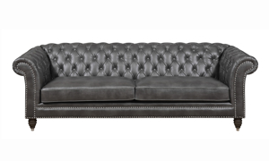 Capone Fossil Grey 3-Piece Chesterfield Living Room Set