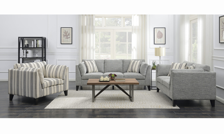 Ellsbury Grey 3-Piece Living Room Set