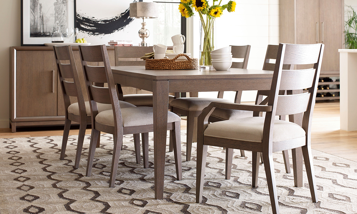 Rachael Ray Home Highline Greige 7-Piece Dining Set