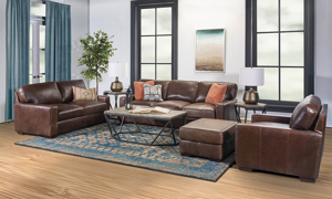 Rocky Mountain Leather Primo Native 4-Piece Living Set