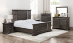 The Cooper Beach Bark Bedroom collection is an affordable bedroom set.