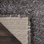 Picture of Luxe Shag LXS01 Charcoal Area Rugs