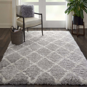 Picture of Luxe Shag LXS02 Grey & Ivory Area Rugs