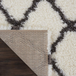 Picture of Luxe Shag LXS02 Ivory & Charcoal Area Rugs