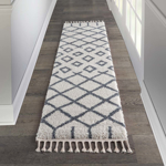 Picture of Moroccan Shag MRS01 White Area Rugs