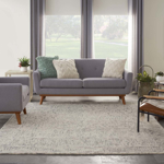 Picture of Colorado CLR04 Ivory, Grey & Teal Area Rugs