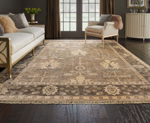 Picture of Aldora ALD03 Opaline & Grey Area Rugs