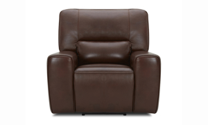 Forman Brown Power Reclining Leather 3-Piece Living Room Set