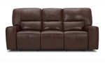 Forman Brown Power Reclining Leather 2-Piece Living Room Set